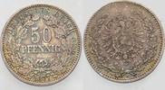 50 Pfennig 1877 A Kleinmünzen  Patina, seh...