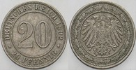 20 Pfennig 1892 A Kleinmünzen  Patina, seh...