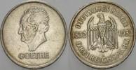 3 Reichsmark 1932 A  GOETHE Sehr schön