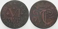 6 Pfennig 1761 Rheda Bentheim Moritz Casim...