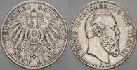 5 Mark 1891 A Hessen Ludwig IV. 1877-1892 ...