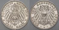 3 Mark 1913 A Lübeck  Sehr schön