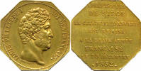 8-eckige Messingmedaille 1832 Belgien - An...