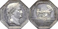 8-eckige Silbermedaille 1810 NAPOLEON UND ...