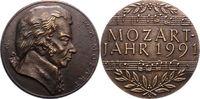 Bronzegussmedaille 1991 Musiker Mozart, Wo...