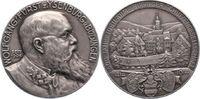 Silbermedaille 1914 Isenburg-Büdingen Wolf...