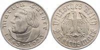 2 Mark 1933  D Drittes Reich  Fast Stempel...