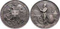 Silbermedaille 1887 Schweiz-Genf, Stadt  K...