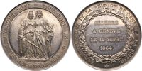 Silbermedaille 1864 Schweiz-Genf, Stadt  W...