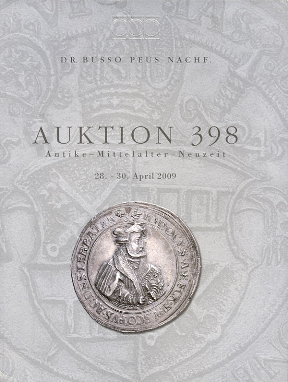 2009 auction catalogues peus 398 antike mittelalter. Black Bedroom Furniture Sets. Home Design Ideas
