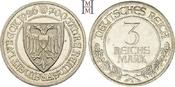 3 Reichsmark 1926  A Weimarer Republik  Haarlinien, Polierte Platte