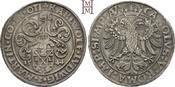 Taler 1544 Oettingen Karl Wolfgang, Ludwig XV. und Martin 1534-1546. Herrliche Tönung, sehr schön-vorzüglich