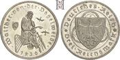 3 Reichsmark 1930  F Weimarer Republik  Leichte Haarlinien, Polierte Platte