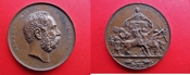 Bronze-Medaille (1874) Sachsen v. Barduleck / Krüger - Prämie für Verdienste um die Landwirtschaft - seltener ss-vz