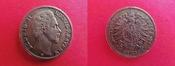 10 Mark 1873 D Bayern Ludwig II. König von Bayern - 10 Goldmark - GOLD - Jäger 193 - kl.Rdf. ~ss