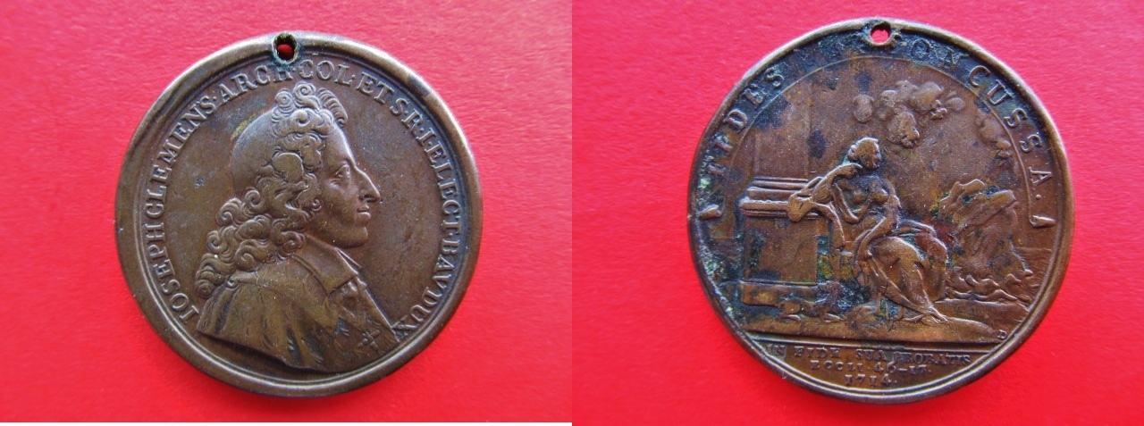 medaille 1714 k ln erzbistum bronze auf die wiedereinsetzung erzbischof joseph clemens. Black Bedroom Furniture Sets. Home Design Ideas