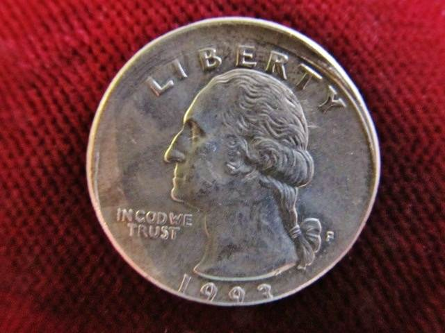 Quarter 1993 Usa Fehlprägung Dezentriert 25 Cent 25 Cents