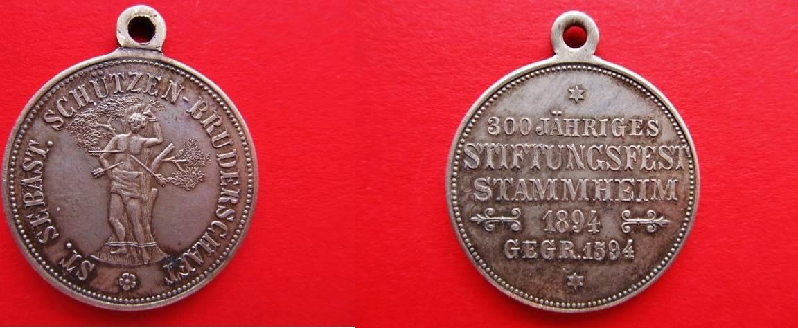 Medaille 1894 Schützenwesen Köln Bronze Versilbert 300 J