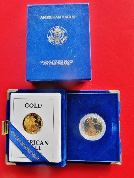 Proof Gold Call 1986 American Eagle 50 Dollar Coin