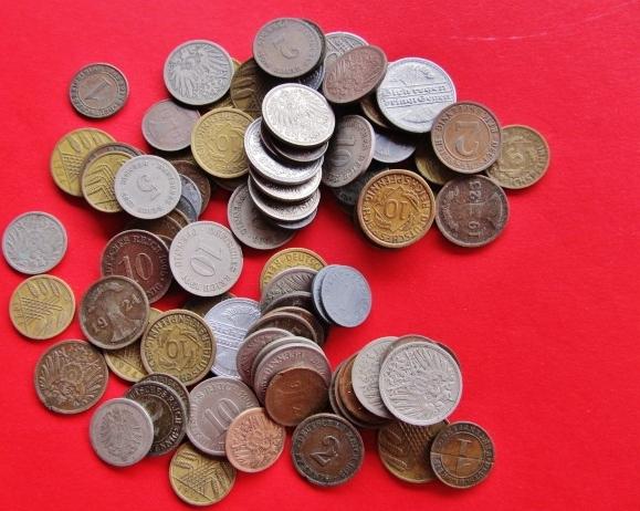 Lot Ca 100 Münzen Ca 1871 1945 Kaiserreich Drittes Reich