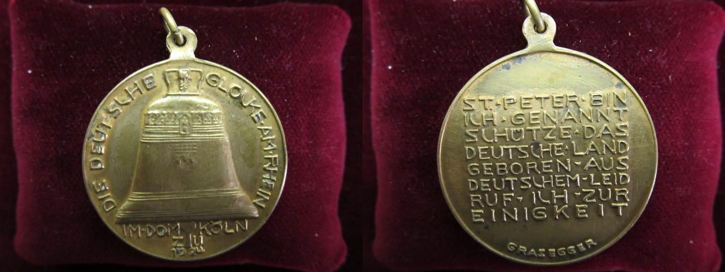 bronze medaille vergoldet 1924 deutsches reich deutschland bronzemedaille 1924 von grasegger. Black Bedroom Furniture Sets. Home Design Ideas