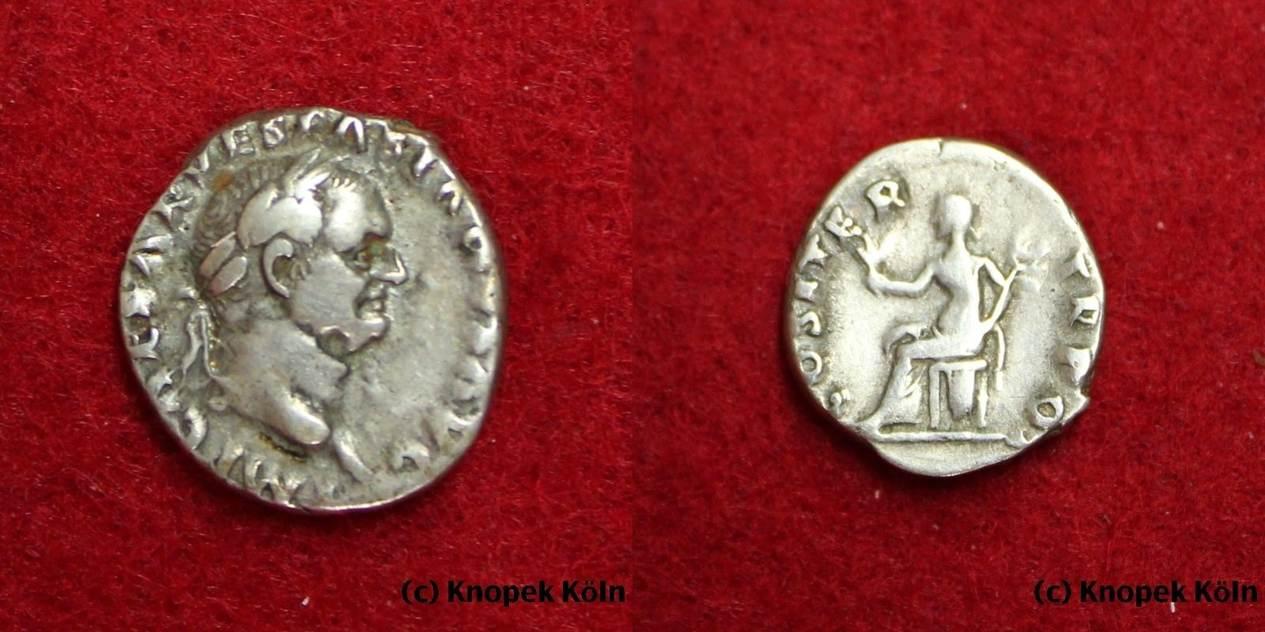 Ar Denar 69 71 Nchr Rom Vespasianus 69 79 Nchr Dinar Roma Rome
