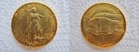 20 Dollars Gold 1908 USA Twenty $ Dollar D...