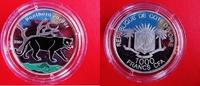1000 Francs 2007 Elfenbeinküste Farbmünze ...