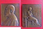 Bronzeplakette 1902 Frankreich / Medicina ...