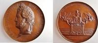 große Kupfermedaille 1842 Frankreich / Eis...