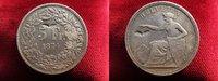 5 Franken 1874 B. Schweiz sitzende Helveti...