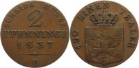 Cu 2 Pfennig 1837  D Brandenburg-Preußen Friedrich Wilhelm III. 1797-18... 30,00 EUR  +  4,50 EUR shipping