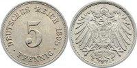 5 Pfennig 1898  A Kleinmünzen  fast vorzüglich  /  vorzüglich  4,00 EUR  +  1,50 EUR shipping