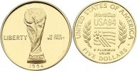 5 Dollar 1994  W USA  Gold, Polierte Platte  320,00 EUR  +  4,50 EUR shipping