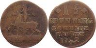 Cu 1 1/2 Pfennig 1722 Stolberg-Stolberg Christoph Friedrich und Jost Ch... 25,00 EUR  +  4,50 EUR shipping