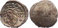 Einseitiger Pfennig 1687 Nürnberg, Stadt  ...