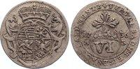 6 Pfennig 1736  AB Sachsen-Eisenach Wilhel...