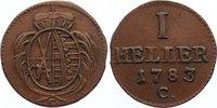 Cu Heller 1783  C Sachsen-Albertinische Li...