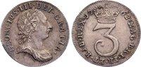 Threepence 1762 Großbritannien George III....