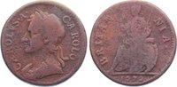 Cu Farthing 1672 Großbritannien Charles II...