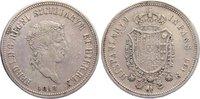 Piastra zu 120 Grana 1818 Italien-Neapel u...