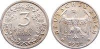 3 Reichsmark 1932  F Weimarer Republik Kur...
