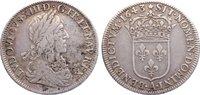 1/2 Écu 1 1643  A Frankreich Ludwig XIII. ...
