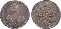 1/2 Rubel 1737 Russland Anna Ivanovna 1730...