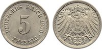 5 Pfennig 1900  F Kleinmünzen  fast Stempe...