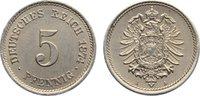 5 Pfennig 1874  A Kleinmünzen  fast vorzüg...