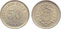 50 Pfennig 1876  J Kleinmünzen  kl. Randve...