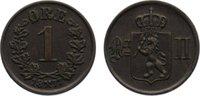 Cu 1 Öre 1 1877 Norwegen Oskar II. 1872-19...