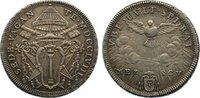 Mezzo Scudo (1/2 Scudo) 1758 Italien-Kirch...