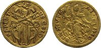 Mezzo Zecchine 1740 Italien-Kirchenstaat B...